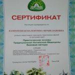 Сертификат Астролога Валентины 3